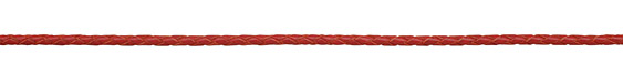Red Braided Leather Bolo Cord 3mm