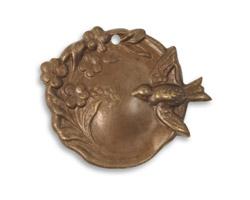 Vintaj Natural Brass Bird Garden Cameo Pendant 27x22mm