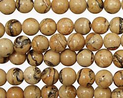 Madagascar Leopardskin Round 6mm
