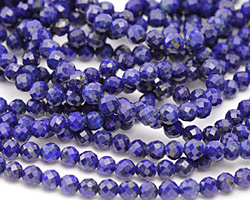 Lapis Faceted Round 5mm