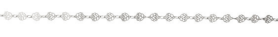 Antique Silver (plated) Rose Chain 8x6mm
