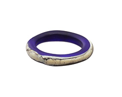 A Beaded Gift Silvered Cobalt Ring 22-24mm