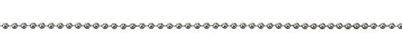 Rhodium (plated) Ball Chain