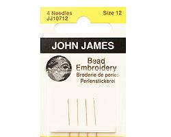 John James Size 12 English Bead Embroidery Needles