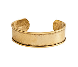 "Nunn Design Antique Gold (plated) 3/4"" Channel Cuff Bracelet 65mm"
