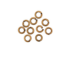Antique Brass (plated) Round Jump Ring 4mm, 18 gauge