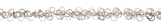 Silver (plated) Dancing Rings Chain