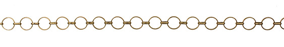 Antique Brass (plated) Linked Ring Chain