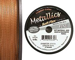"""Soft Flex Copper Metallic .014"""" (Fine) 21 Strand Wire 30ft."""