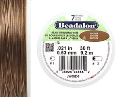 "Beadalon Bronze .021"" 7 Strand Wire 30ft."