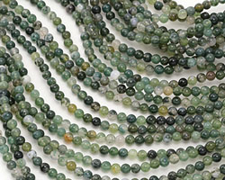 Moss Agate Round 4mm