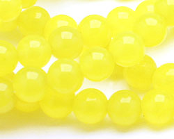 Neon Yellow Colorful Jade Round 6mm