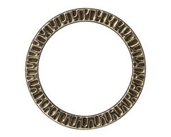 "TierraCast Antique Brass (plated) 1 1/4"" Radiant Ring 32mm"