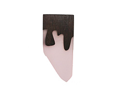 Wood & Blossom Pink Resin Shard Pendant 24x51mm
