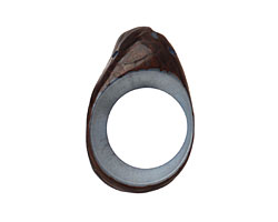 Tagua Nut Stonewashed Open Slice (side drilled) 33-45x24-36mm