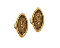 Nunn Design Antique Gold (plated) Itsy Navette Earring Post 5.5x11mm