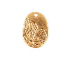Zola Elements Matte Gold Finish Pressed Butterfly Focal 14x19mm
