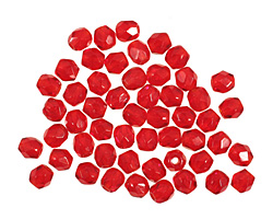 Czech Fire Polished Glass Ruby Round 3mm
