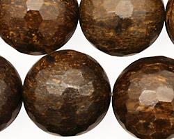 Bronzite Faceted Round 22mm