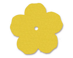 "TierraCast Yellow Leather 1.25"" Flower 32mm"