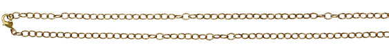 Vintaj Vogue Finished Extra Fine Oval Chain 18""