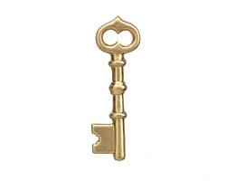 Brass Skeleton Key 42x13mm