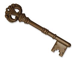 Vintaj Natural Brass Royal Key Pendant 17x64mm