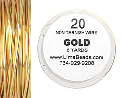Parawire Non-Tarnish Gold 20 gauge, 6 yards