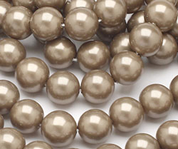 Champagne Shell Pearl Round 10mm