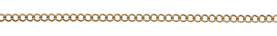 Satin Hamilton Gold (plated) Curb Link Chain