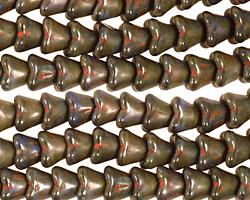 Czech Glass Deep Marina Bellflower 6x7mm
