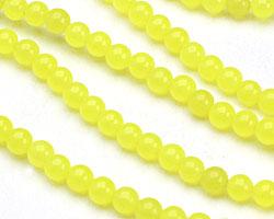 Neon Yellow Colorful Jade Round 4-5mm