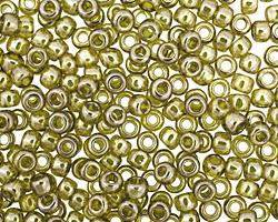 TOHO Gold Lustered Green Tea Round 6/0 Seed Bead