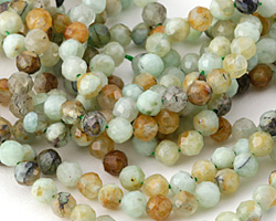 Chrysoprase Faceted Round 4mm