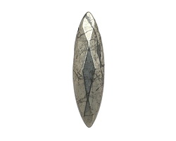 Golden Pyrite (silver tone) Faceted Spear Drop 8x30mm
