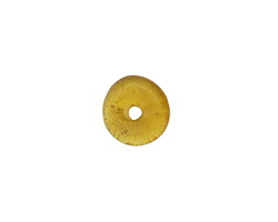 African Recycled Glass Amber Mini Donut 12mm
