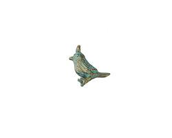 Zola Elements Patina Green Brass (plated) Little Bird Charm 13mm