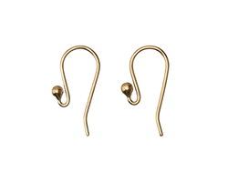 Nina Designs Natural Bronze Hook Earring Top 9x17mm