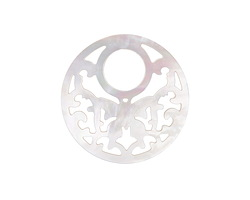 Mother of Pearl Carved Butterfly Focal 30mm