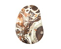 Orbicular Jasper w/ Orange Flat Freeform Pendant 39-41x55-57mm