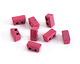 Berry Enamel 2-Hole Tile Thin Rectangle Bead 4x8mm