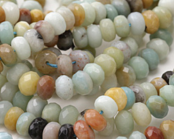 Black Gold Amazonite Faceted Rondelle 8mm