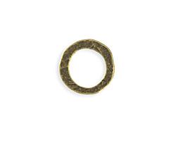 Vintaj Antique Brass (plated) Hammered Ring 20mm
