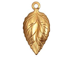 Brass Ivy Leaf Pendant 18x35mm