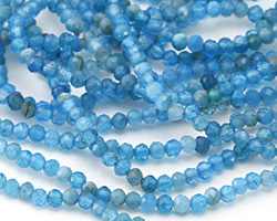 Pacific Blue Apatite Faceted Rondelle 2mm