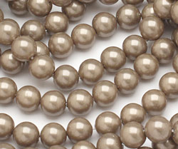 Champagne Shell Pearl Round 8mm