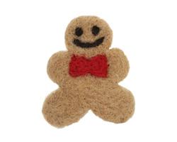 Felt Gingerbread Man Large 38-48x55-60mm