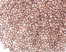 TOHO Marbled Opaque Pink/Amethyst Round 11/0 Seed Bead