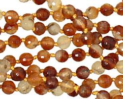 Honey Tourmalinated Quartz Faceted Round 6mm
