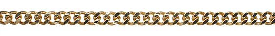 Gold (plated) Large Curb Chain
